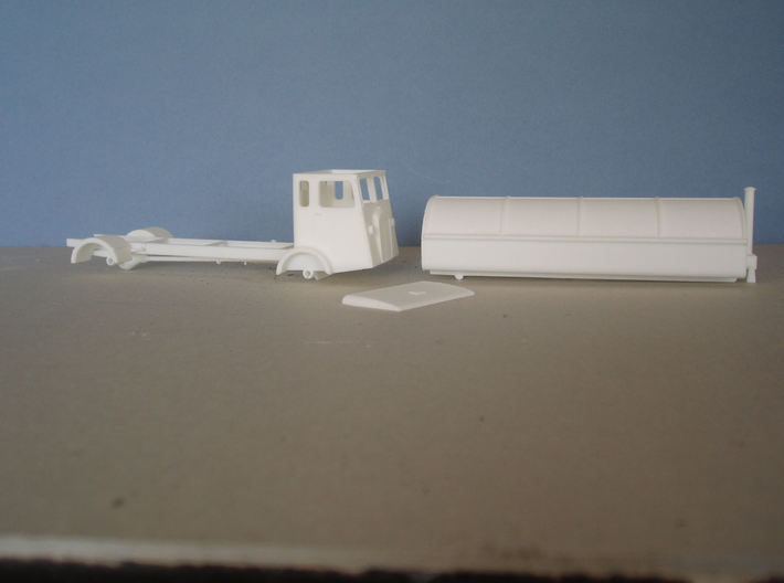 1:43 Dennis 1940s Refuse Carrier 3d printed 3 parts