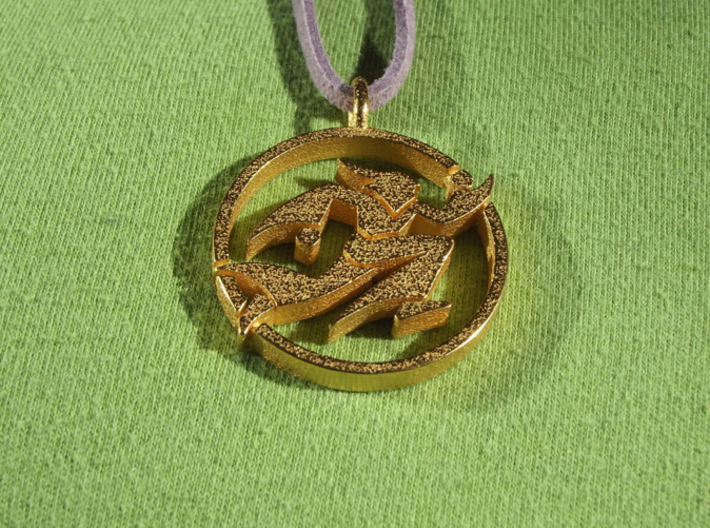 Running Wizard Pendant 3d printed