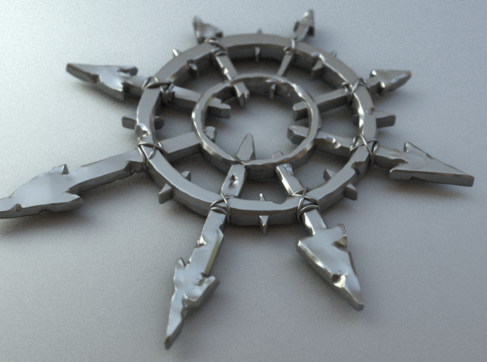 Chaos Pendant Large 3d printed