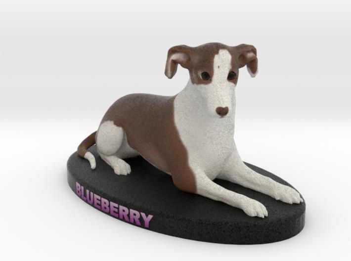 Custom Dog Figurine - Blueberry 3d printed