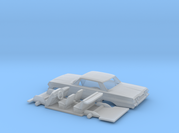 1/87 1963 Chevrolet Impala 4 Door Kit 3d printed