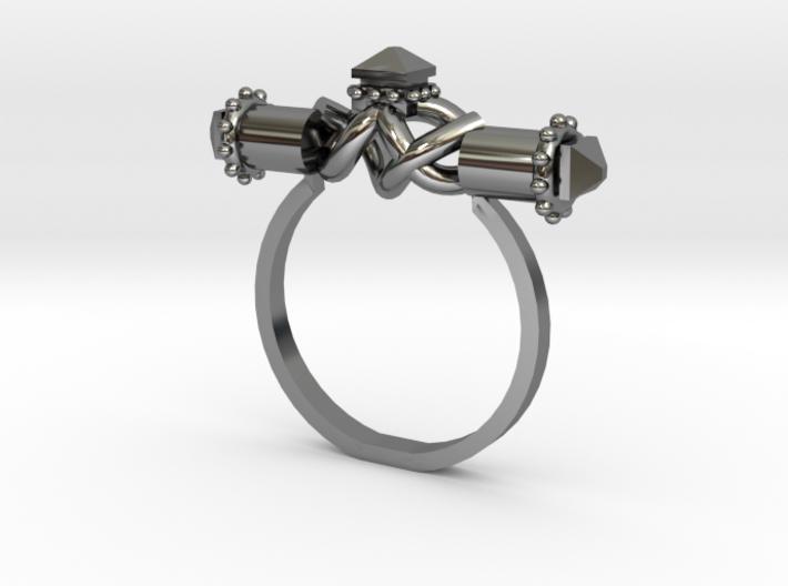 Serpent Capsule Ring - Sz. 10 3d printed