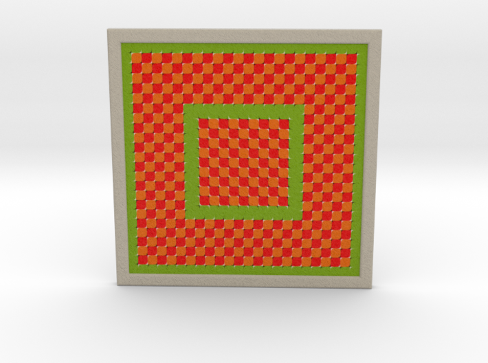 0177 Optical Illusion picture A (15cm) #003 3d printed