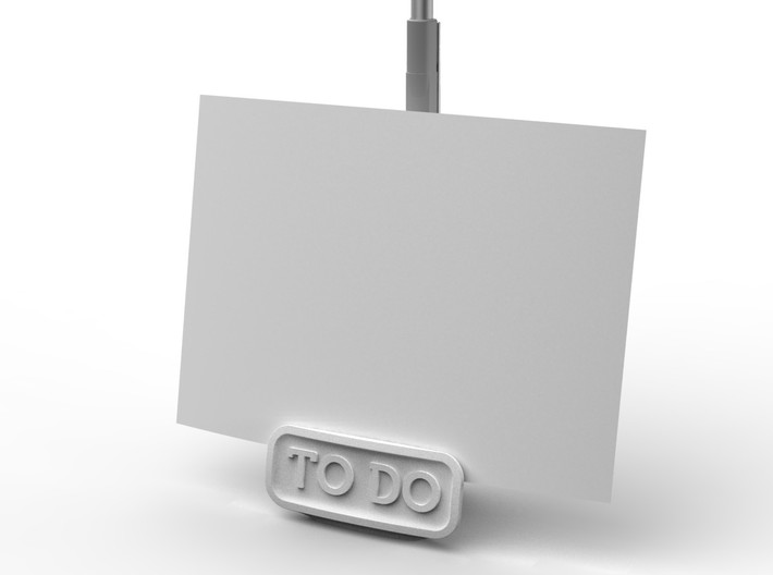 To Do list holder 3d printed In white strong and flexible plastic