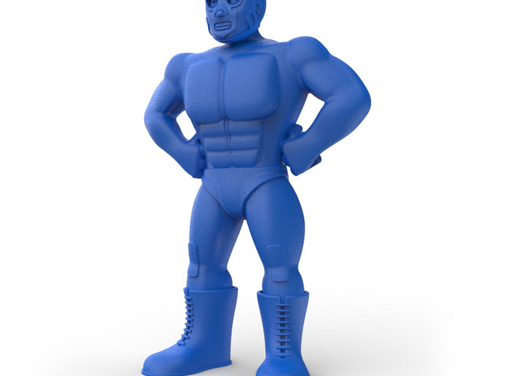 Mexican Wrestler #1: Hurricane Ramirez 3d printed 3/4 view
