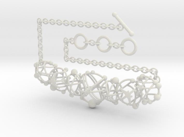 Cotton Cloud Move Necklace 3d printed