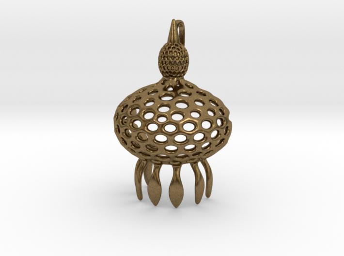 Anthocyrtium Radiolarian Pendant 3d printed