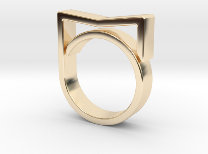 Adjustable ring for men. Model 3. 3d printed
