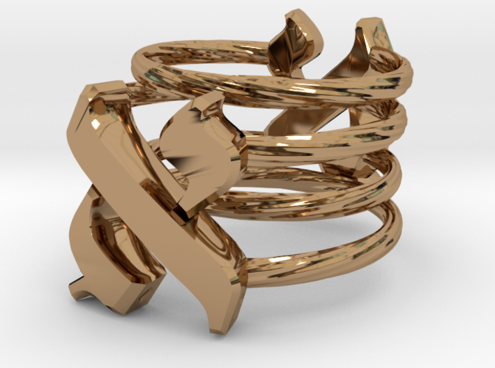 Two Aleph Rings 3d printed