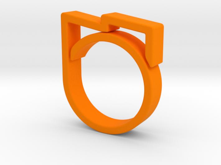 Adjustable ring for men. Model 5. 3d printed