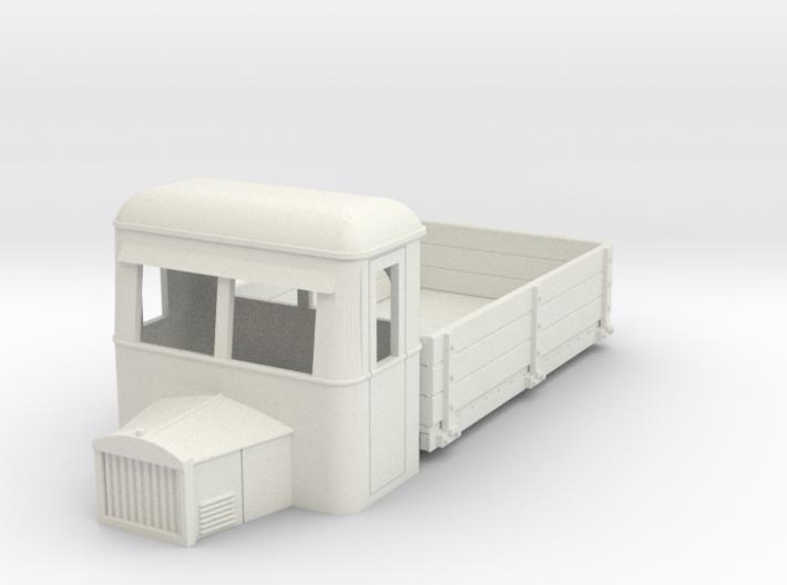 009 dropside goods railbus with bonnet 3d printed