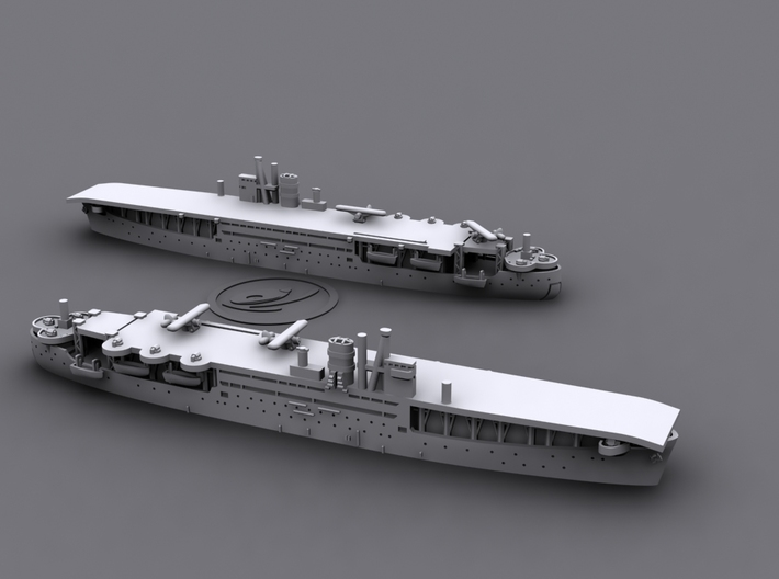 1/1800 IJN LSD AkitsuMaru[1942] 3d printed *aircrafts not included