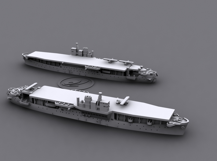 1/1800 IJN LSD Akitsu Maru [1944] 3d printed *aircrafts not included