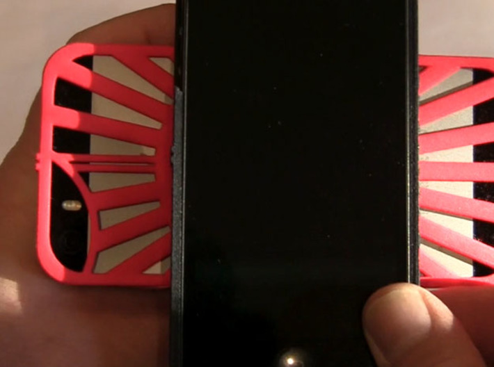 for iPhone 5SE - 5s - 5 : redial : CASECASE CLICK  3d printed align at 90 degrees