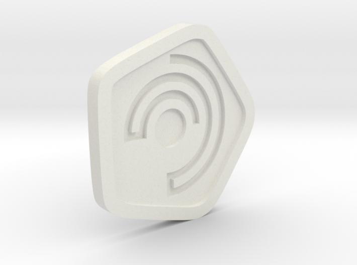 New Harmony Earrings   Flat Borders 3d printed