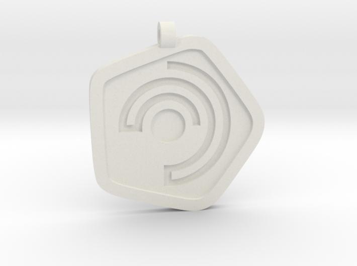 New Harmony Pendant   Flat Borders 3d printed