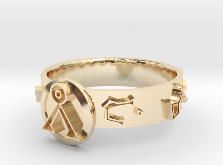 Stargate Dial Home Ring (size S) 3d printed