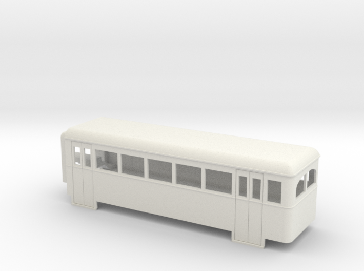 009 articulated railcar 5 window rear section 3d printed