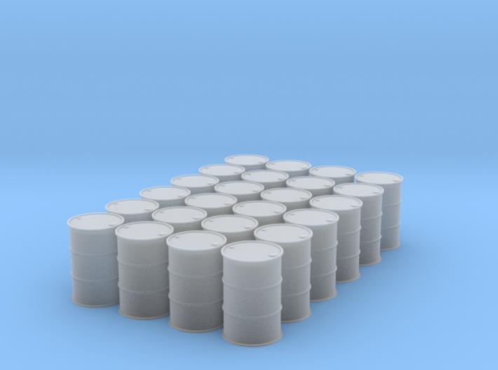 1/64 (2 Dozen) 55 Gal Drums 3d printed