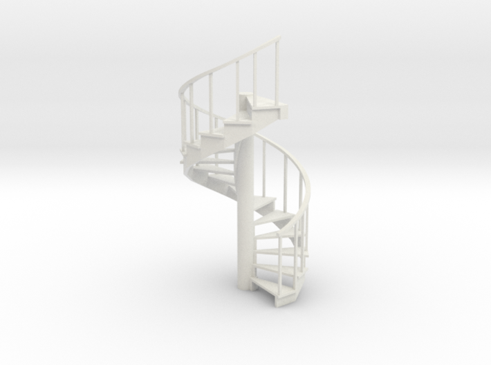 10' Spiral Stair Right Railing 1:48 3d printed