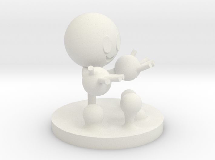 Water molecule figure 3d printed