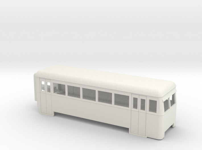 009 articulated railcar 5 window driving trailer 3d printed