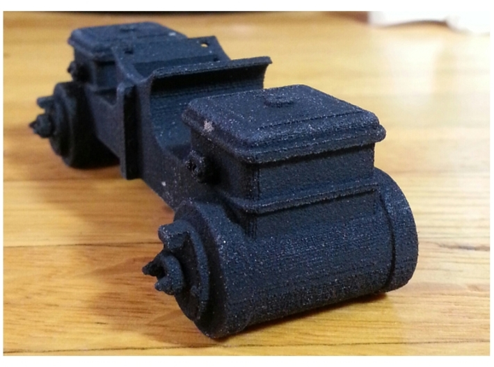 1:20 scale 8x12 Cylinder block Assembly Baldwin 3d printed Printed in Black Strong Flexible Material