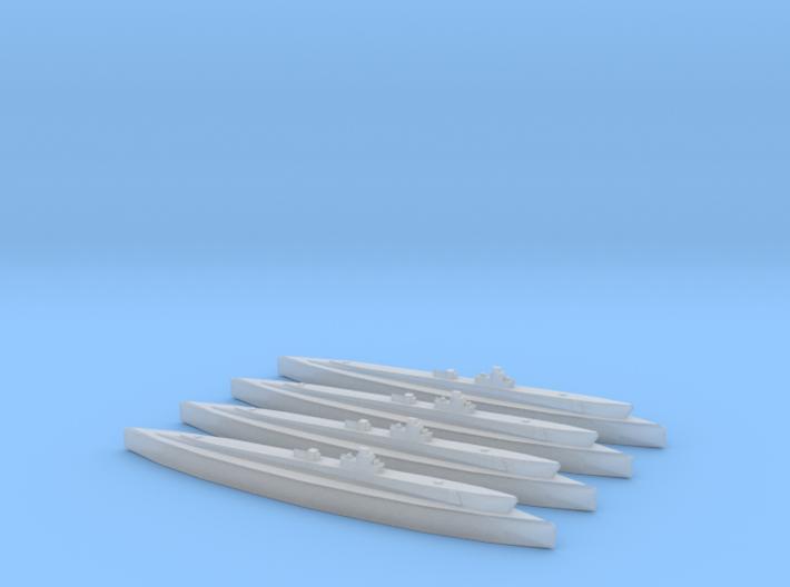 USS Gudgeon (Tambor class) 1/1800 x4 3d printed