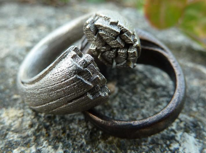 Cracking Wood ring - Size7 3d printed