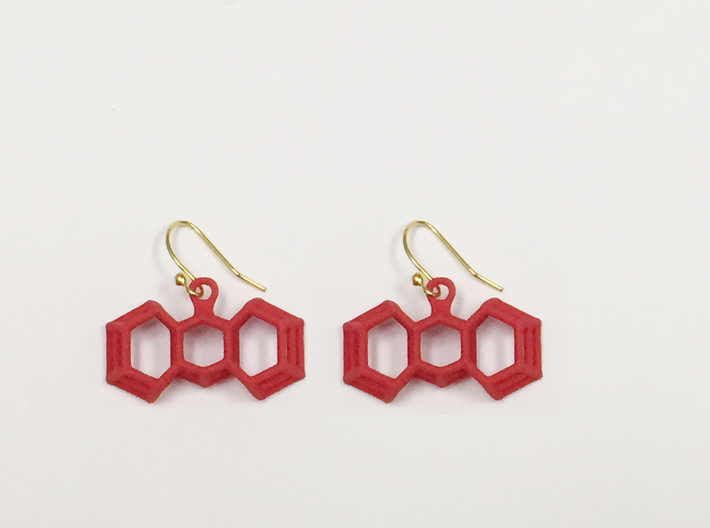 3D Printed Wired Bow Earrings (Smaller Size) 3d printed