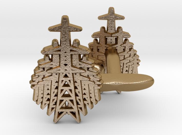 Pylon Fan cufflinks 3d printed