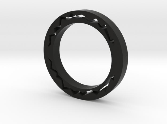 Streak Of Lightning Ring 3d printed