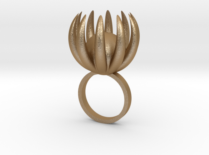 Blooming Ring size UK 0 3d printed