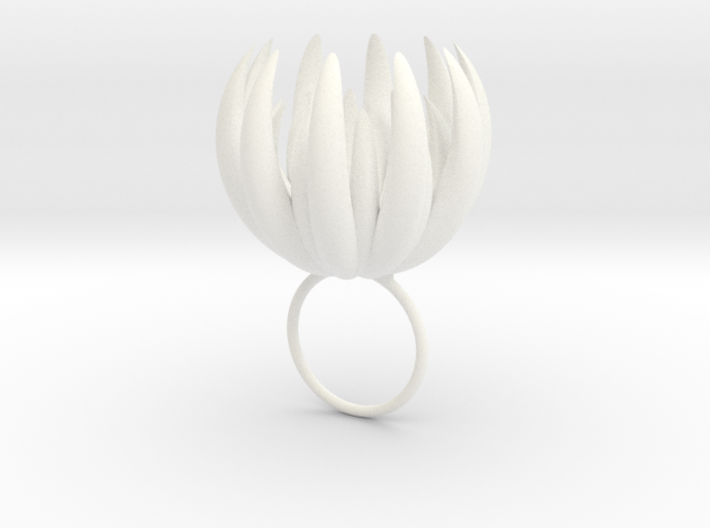 Large Blooming Ring 3d printed