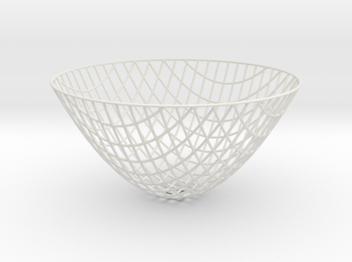 Paraboloid -- XY curves (8in) 3d printed