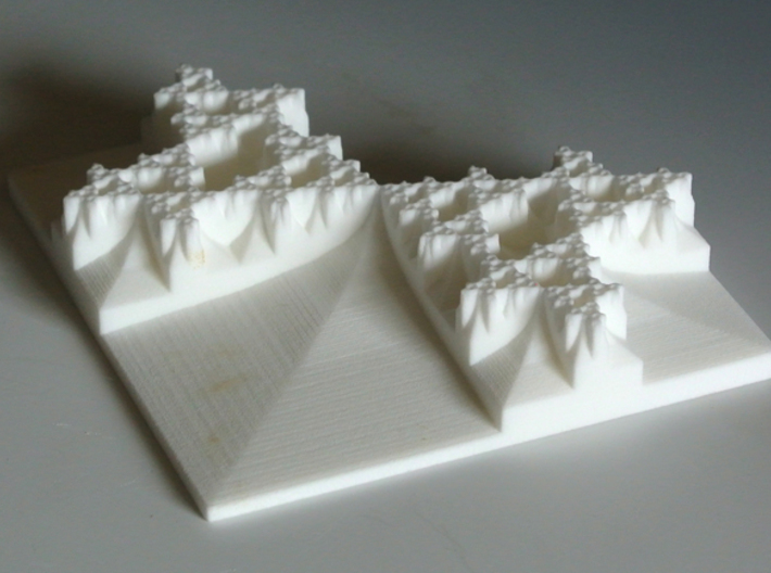 Tromino Developing Fractal Gasket 3d printed Photograph of the model in Strong and Flexible