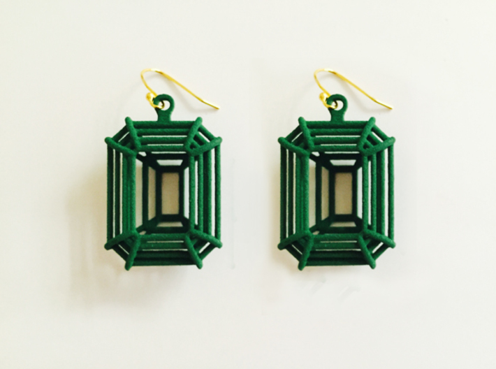 3D Printed Diamond Emerald Cut Earrings (Small) 3d printed