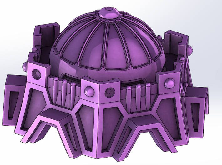Sci-Fi Fort / Temple 3d printed Add a caption...