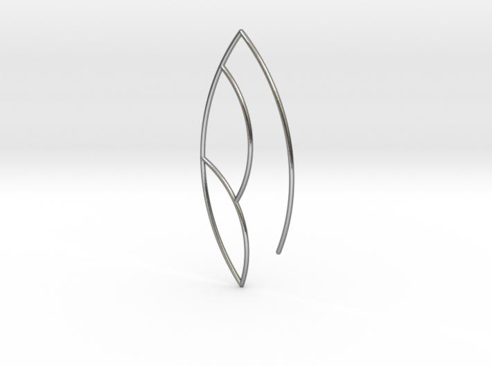 Leaf Earring 3d printed