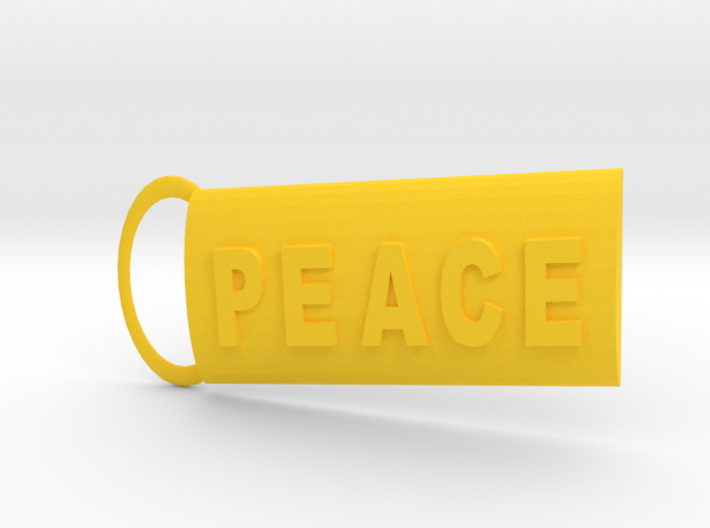 Peace Keyring 3d printed
