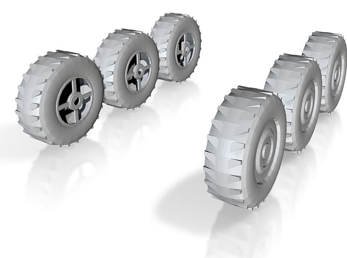 Wheel x6, 28mm, 1/35 3d printed