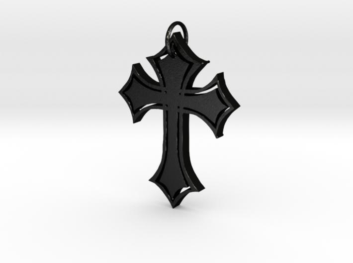 Christian Cross Pendant 3d printed
