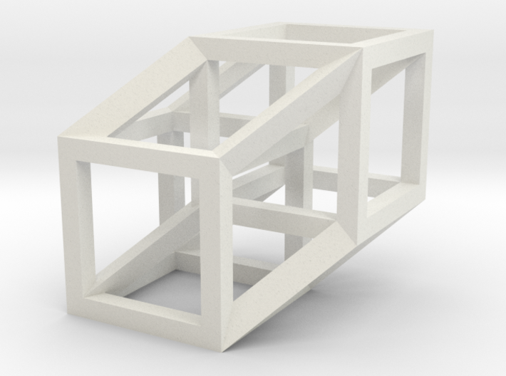 4D Hypercube Model 3d printed