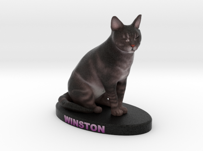 Custom Cat Figurine - Winston 3d printed