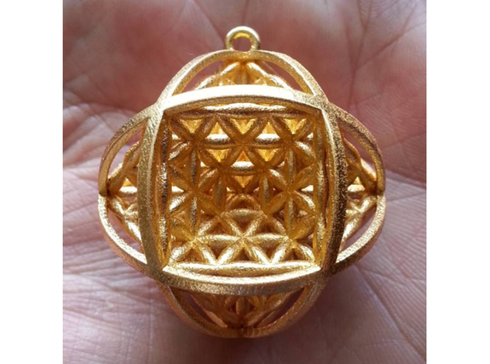 Ball Of Life Pendant 3d printed