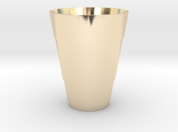 Gold Beer Pong Cup 3d printed