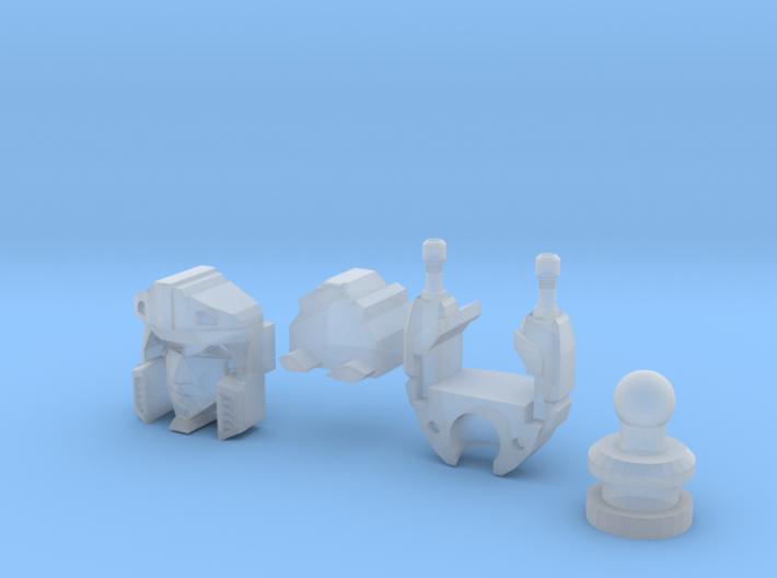 Medical Sportscar Femmebot Head set 3d printed