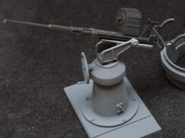 1:24 scale 20mm Oerlikon Set (WITH early Mk.4 Pede 3d printed 1:24 asy, painted