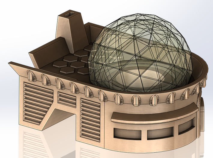 RADAR BASE BUILDING 3d printed Geo Dome - See Other File