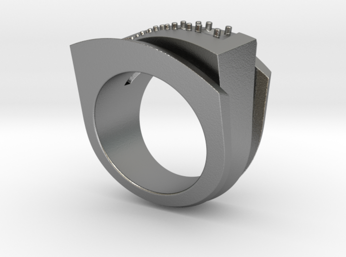 Triangle Ring - Gems - Size 12 (21.49 mm) 3d printed